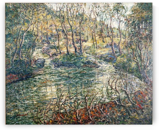 River and trees by Ernest Lawson