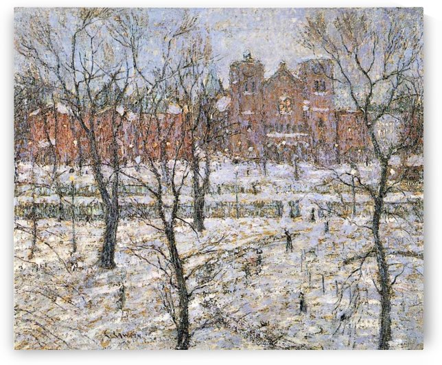 Cathedral in winter by Ernest Lawson