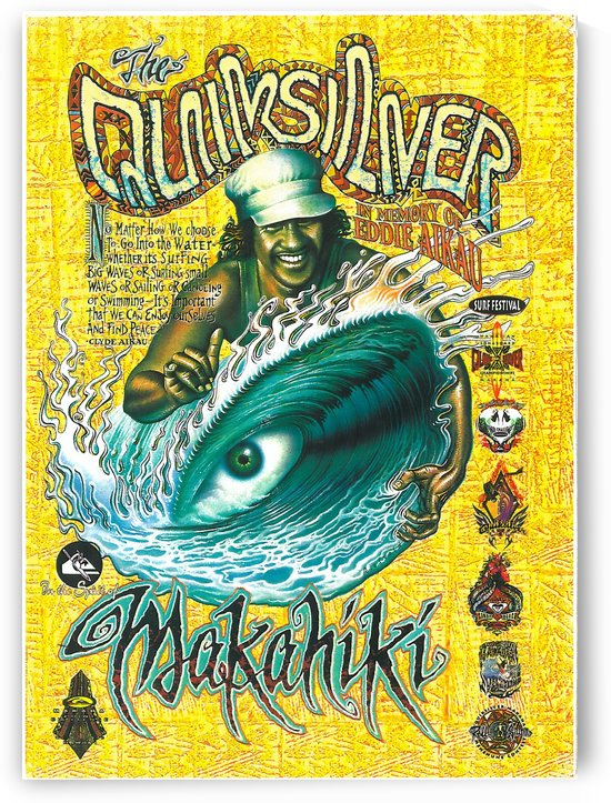 QUIKSILVER - EDDIE AIKAU Big Wave Invitational Surfing Competition Print by Surf Posters