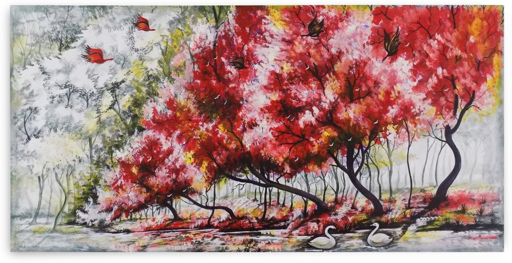 THE RED TREE LANDSCAPE  by ASP ARTS