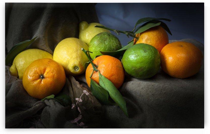 Lemons limes and satsumas by Leighton Collins