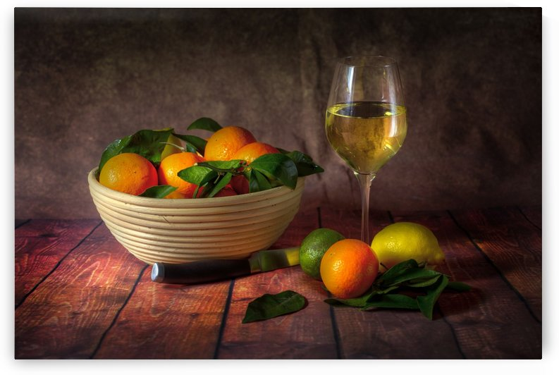 Citrus fruit and wine by Leighton Collins