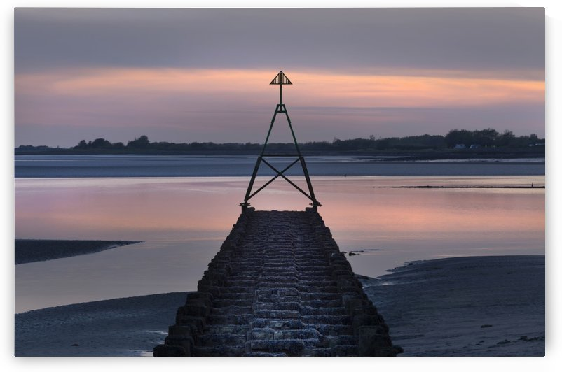 Cardinal marker on The Loughor Estuary  by Leighton Collins