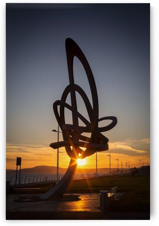 The Kitetail sculpture at Aberavon seafront by Leighton Collins