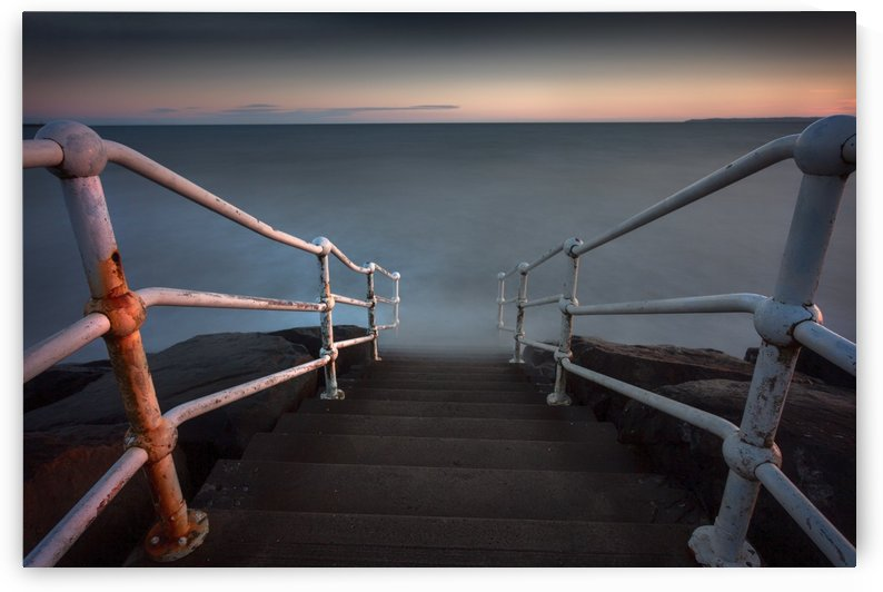 A handrail at Aberavon beach by Leighton Collins