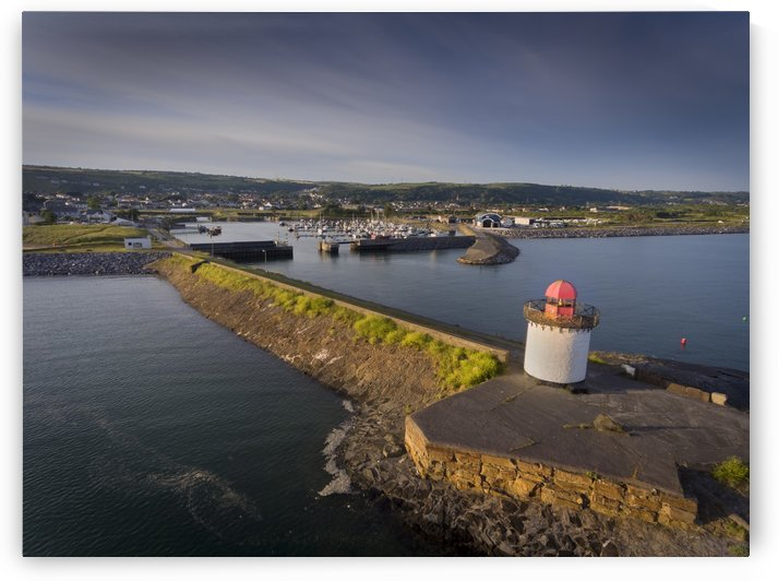 Burry Port Lighthouse and marina by Leighton Collins