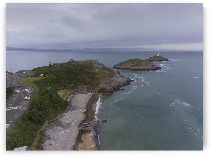 Bracelet Bay and Mumbles lighthouse by Leighton Collins