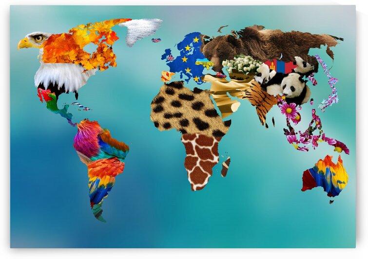 Aesthetic World Map by Radiy Bohem