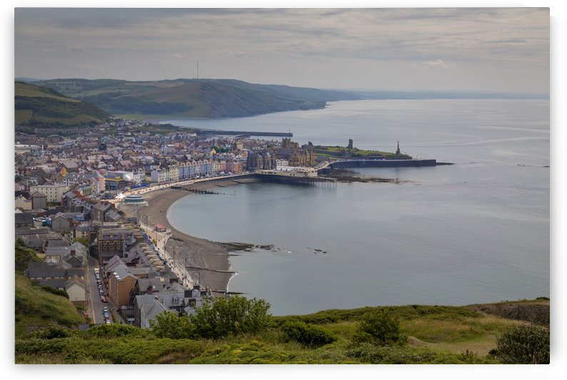 A view of Aberystwyth from Constitution Hill by Leighton Collins