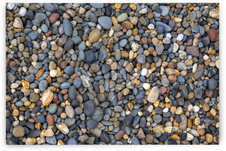 Small beach pebbles by Leighton Collins