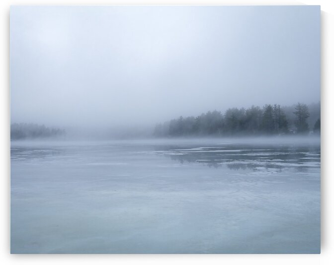 Fog on Cunningham Pond by Dave Therrien