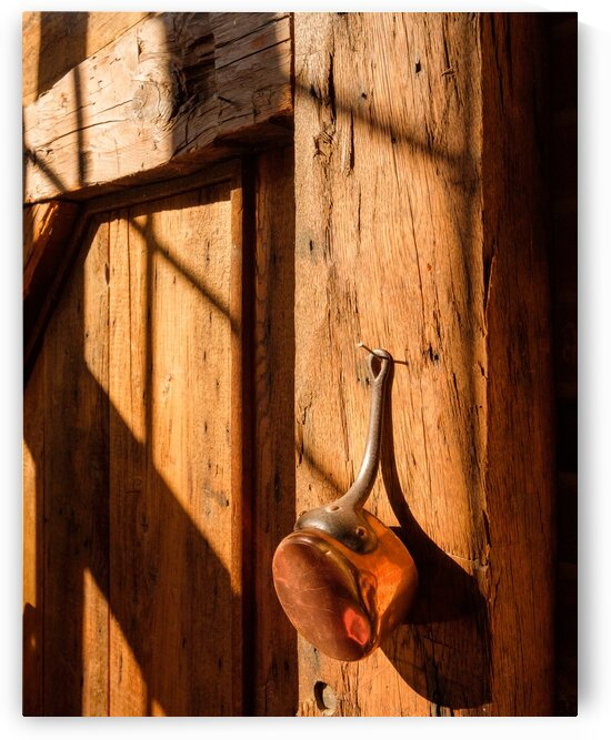 Copper on Barnboard by Dave Therrien