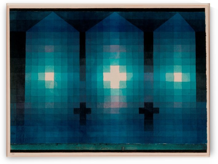 Tomb in three parts by Paul Klee
