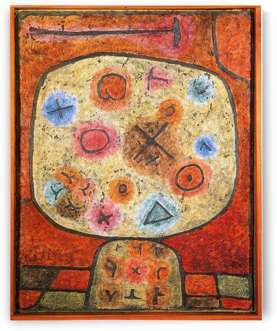 Flowers in stone by Paul Klee
