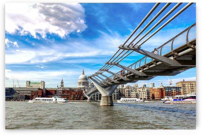 Landscape - London skyline - St Pauls Cathedral by Bentivoglio Photography