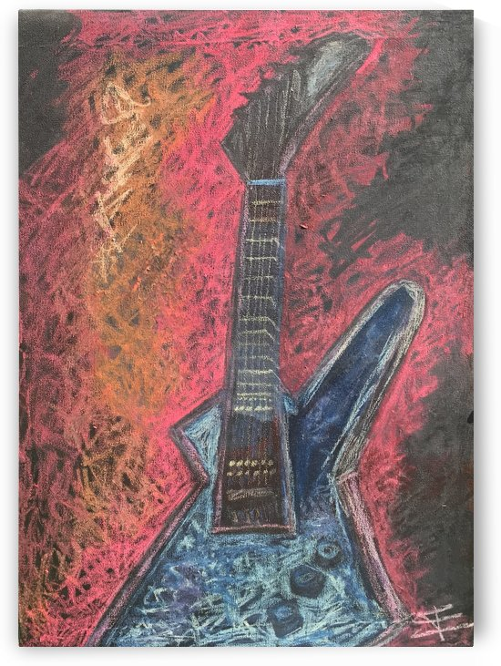 Rock This Metallica Tribute Guitar by EF Kelly