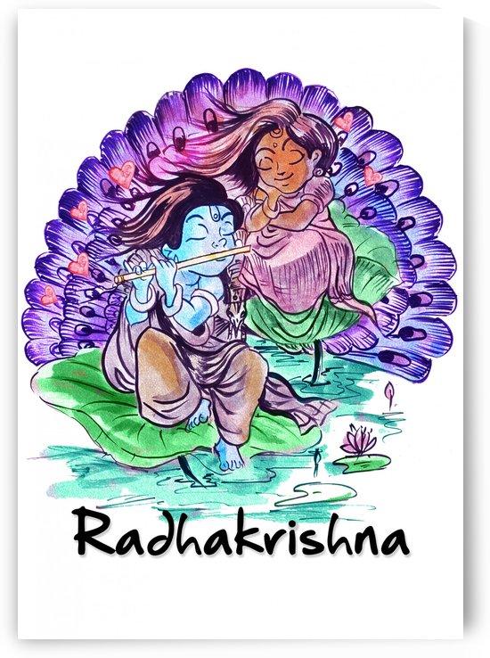RADHA KRISHNA AS CHILDREN by ASP ARTS
