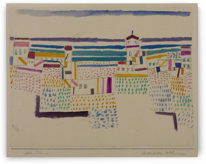 Castle at the sea by Paul Klee