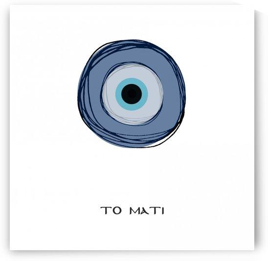 The eye in a square by ANASTASIA SKARLATOUDI