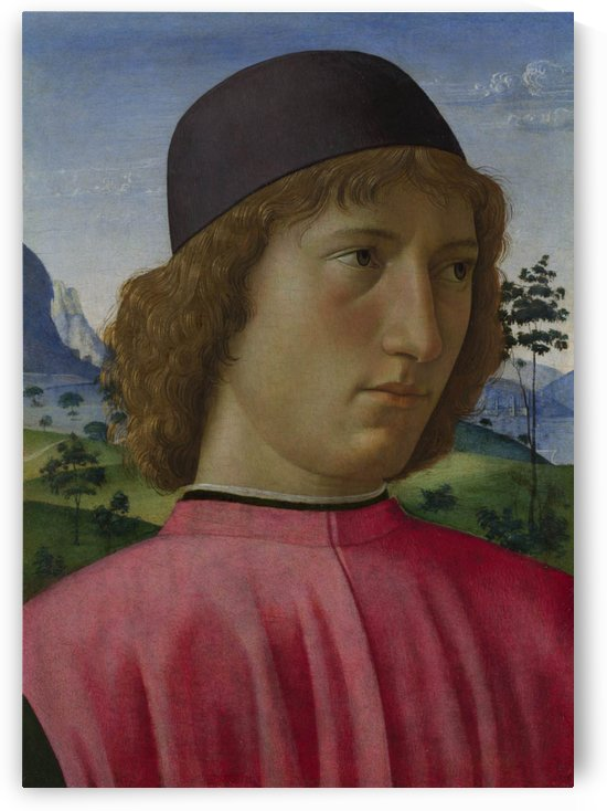 Portrait of a young men in red by Domenico Ghirlandaio