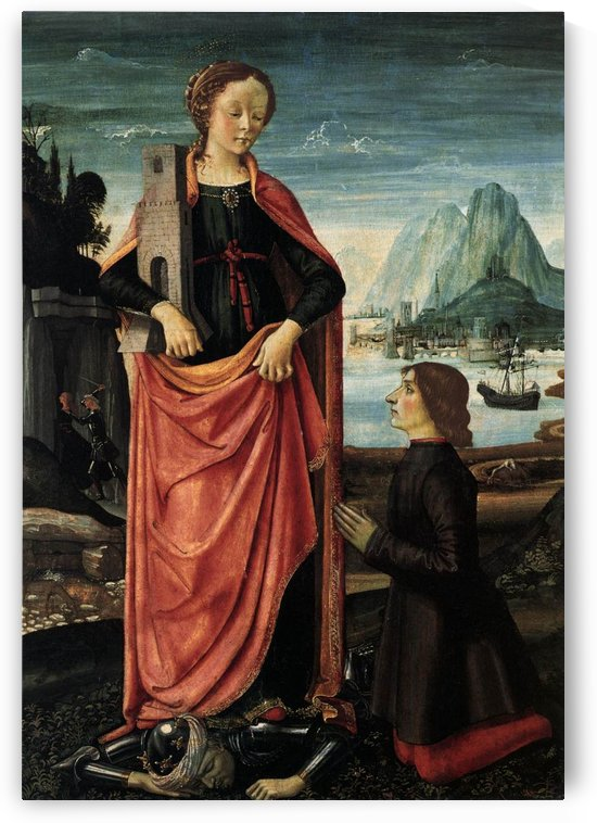 St Barbara crushing her father by Domenico Ghirlandaio