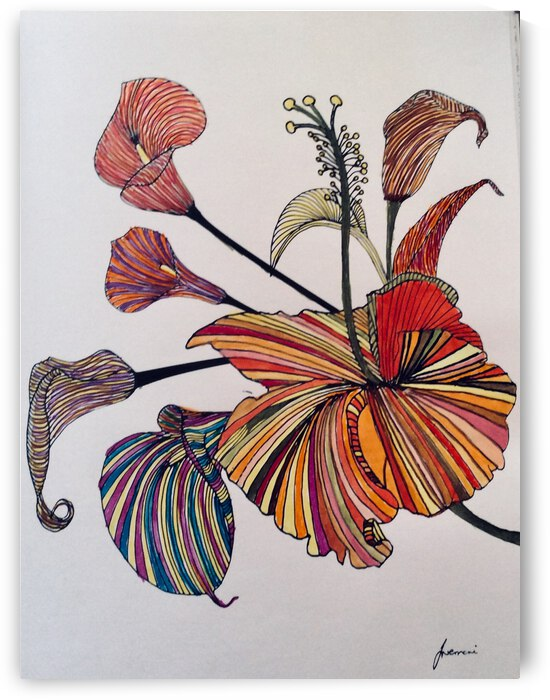 Flowers 1 by Zaramar Paintings