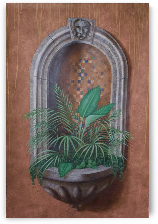 Wall Alcove with Plants - Trompe Loeil by Wallshazam