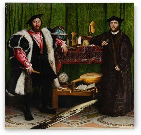 Hans Holbein: The Ambassadors HD 300ppi by Stock Photography