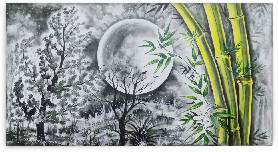 THE BAMBOO AND THE MOON  by ASP ARTS
