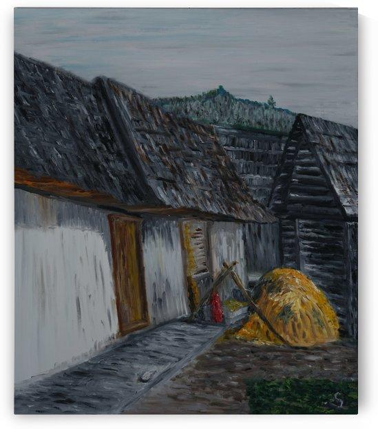 Valaská VIllage by Tomas Strelinger. Original size 50X60cm by Edwin John