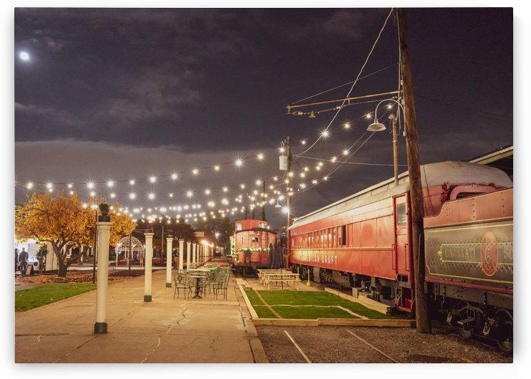 Trainyard at Dusk by Brett P  May