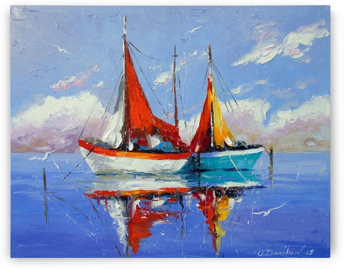 Sailboats in the sea by Olha Darchuk