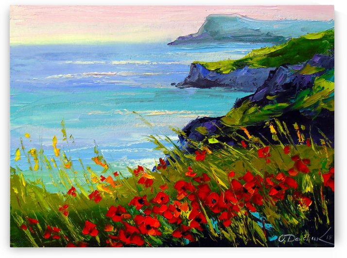 Flowers by the sea by Olha Darchuk