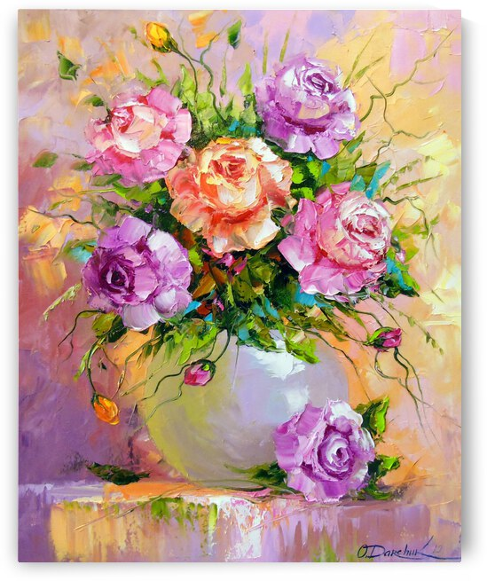 Bouquet of delicate roses by Olha Darchuk