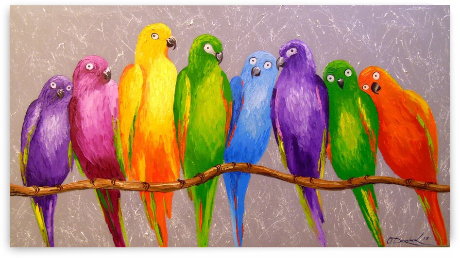 Bright parrots by Olha Darchuk