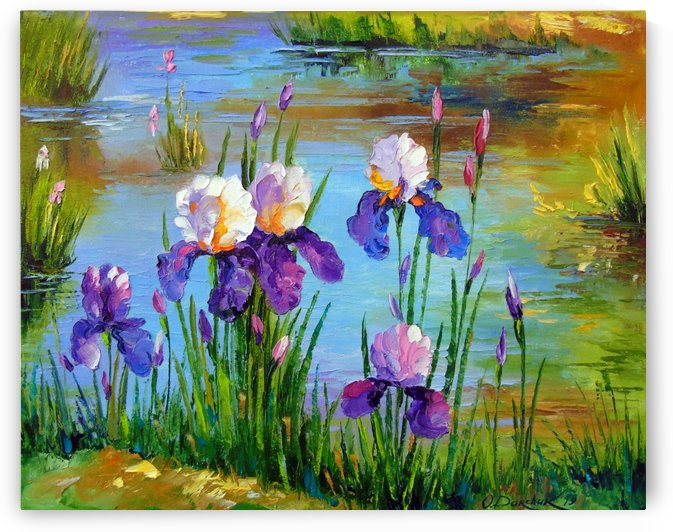 Irises at the pond by Olha Darchuk