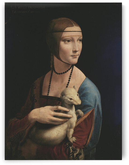 Leonardo da Vinci. The Lady with an Ermine Cecilia Gallerani HD 300ppi by Stock Photography