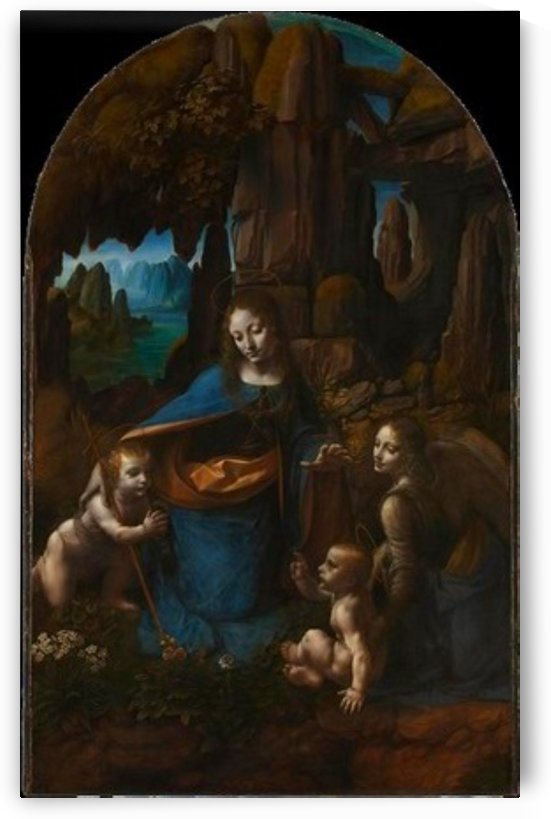 Leonardo da Vinci. The Virgin of the Rocks HD 300ppi by Famous Paintings