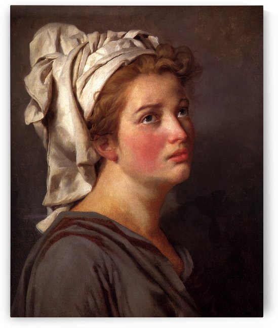 Portrait of a young woman in a turban by Jacques-Louis David