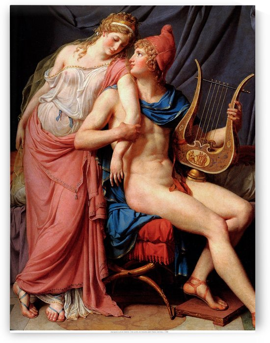 Helen and Paris by Jacques-Louis David