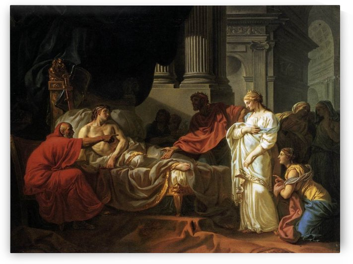 Antiochus and Stratonica by Jacques-Louis David