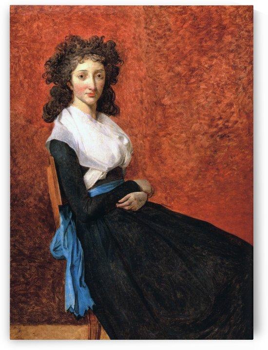 Portrait of madame charles louis trudaine 1792 by Jacques-Louis David