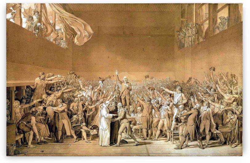 Tennis court by Jacques-Louis David