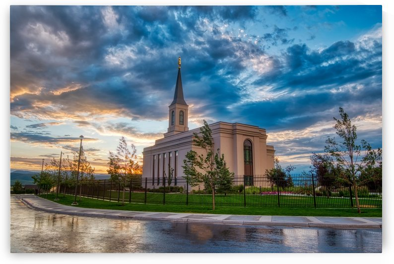 Star Valley Wyoming Temple - The Church of Jesus Christ of Latter-day Saints by Brian J Riley