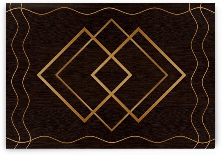 Abstraction line square pattern by Radiy Bohem