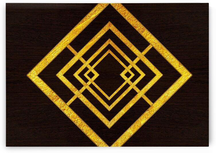 Abstraction line square pattern 2 by Radiy Bohem