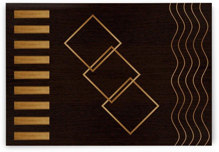 Abstraction line square pattern 3 by Radiy Bohem