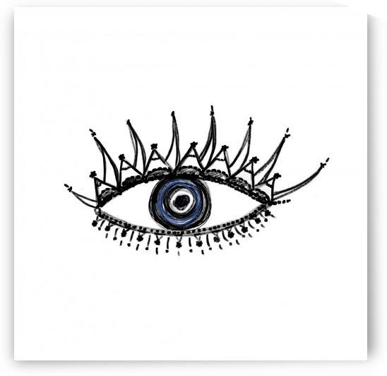 The eye pen drawing by ANASTASIA SKARLATOUDI