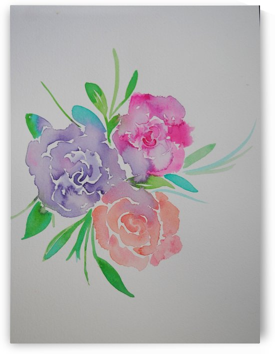 Watery roses by April Hammon