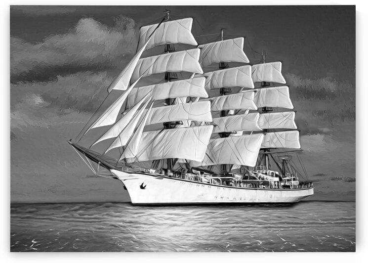 sailing ship. sailboat by Radiy Bohem